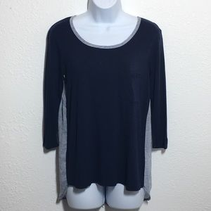 Loveappella Tops - Loveappella Button Back 3/4 Sleeve Top Size XS